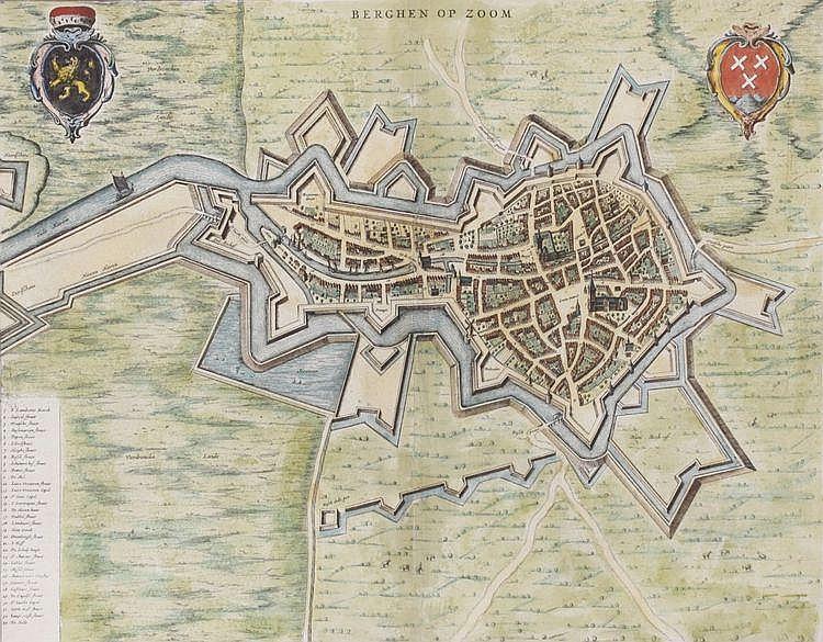 Joan Blaeu (1598-1673) 'Berghen op Zoom'. Een