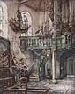 Albert Geudens (1869-1949) Kerkinterieur., Albert Geudens, Click for value