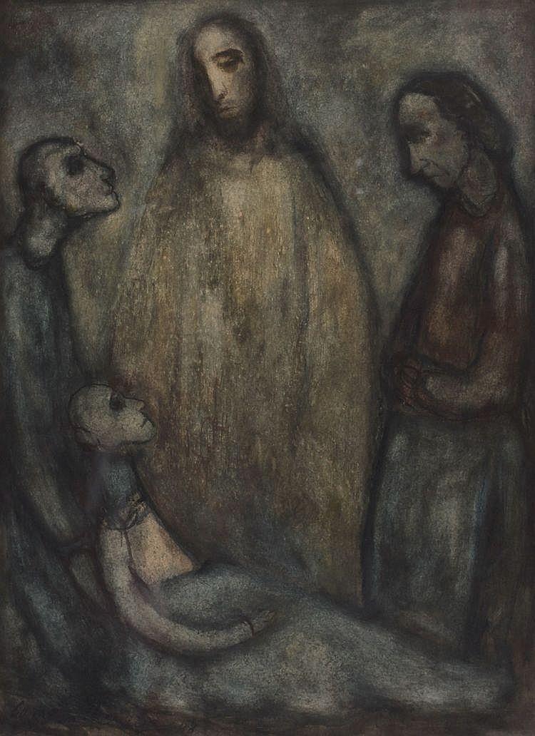Cornelis van Leeuwen (1892-1949) Drie figuren rond