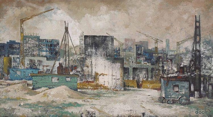 Dook Everse (1910-2005) 'Opbouw'. Gesigneerd r.o.