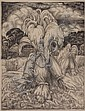 Kees van Urk (1895-1976) Oogst. Gemonogrammeerd in, Cornelis Jan