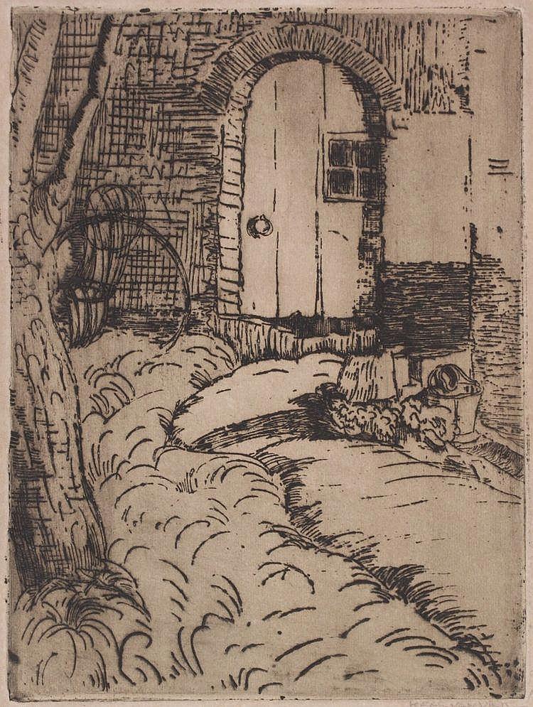 Kees van Urk (1895-1976) Poortje te Hedel.