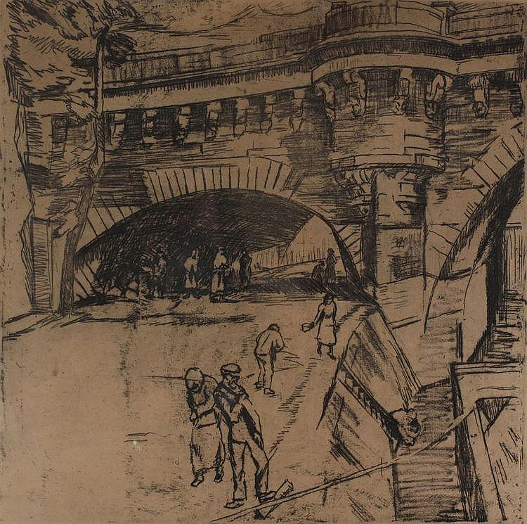 Albert Jan Neuhuys (1895-1968) Brug over de Seine