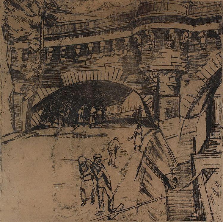 Albert Jan Neuhuys (1895-1968) Brug over de Seine