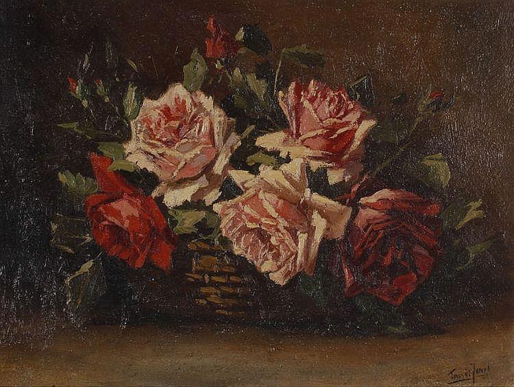 Tinus de Jongh (1885-1942) Een bloemstilleven met