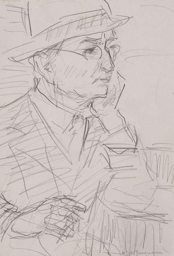 Maarten Jungmann (1877-1964) Portret van een man.