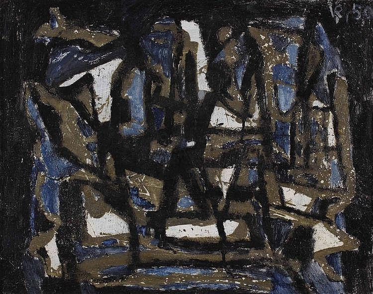 Louis van Roode (1914-1964) Compositie. Gesigneerd