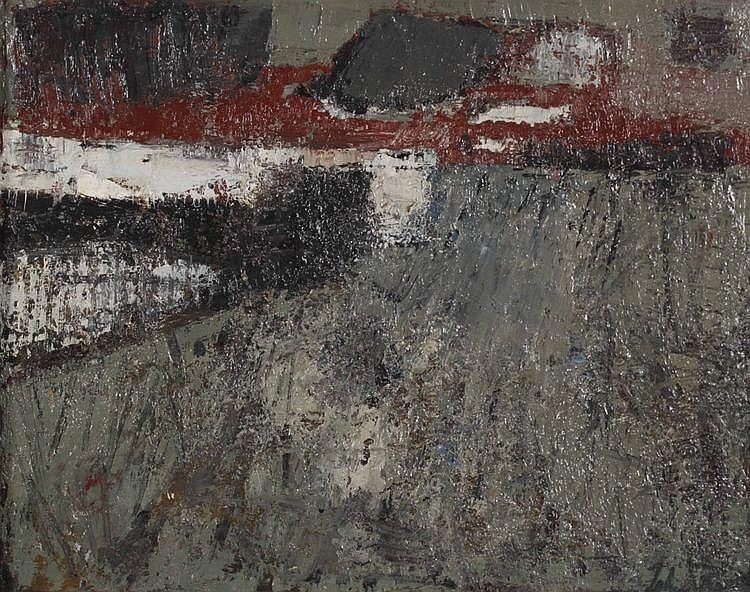 Johan van Reede (Geb. 1921) Compositie. Gesigneerd