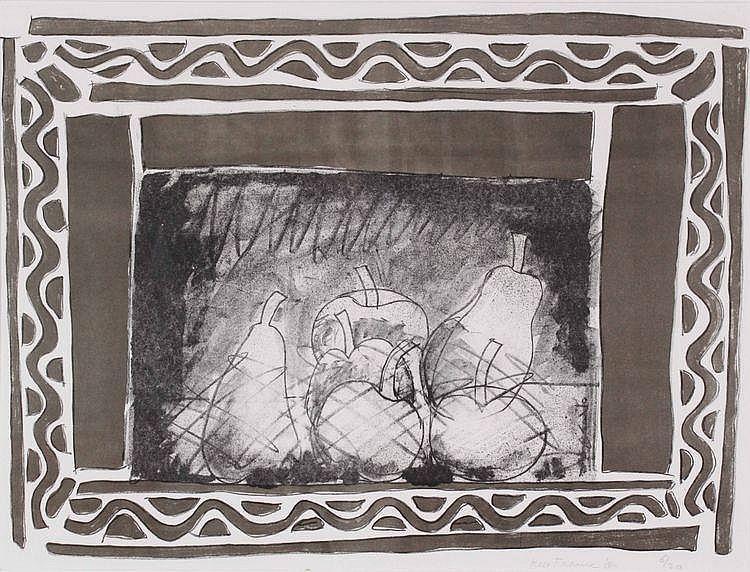 Kees Franse (1924-1982) Compositie met appels en