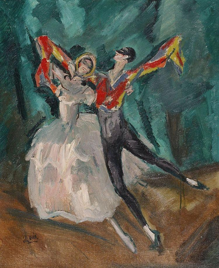 Charles Félix Gir (1883-1941) Danspaar op het