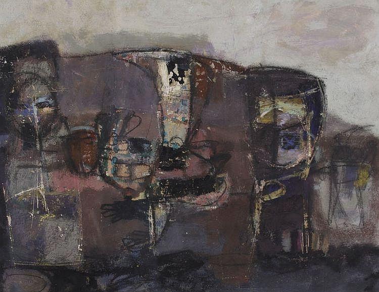 Ton Orth (Geb. 1935) Compositie. Gesigneerd en