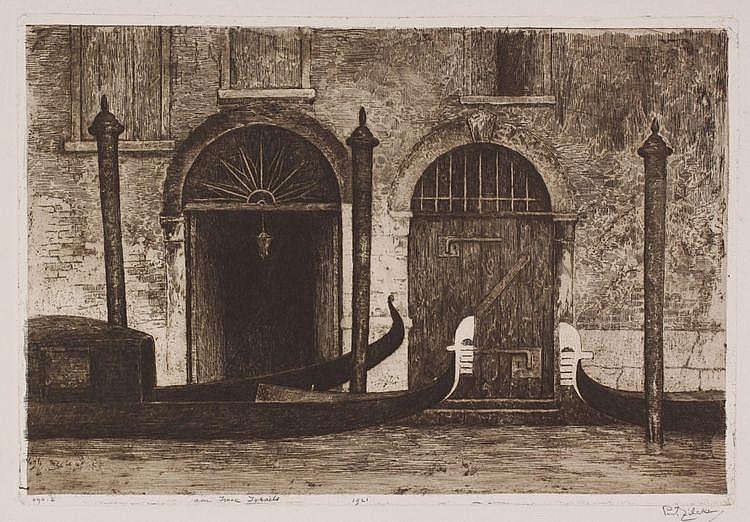 Philip Zilcken (1857-1930) 'Canal Grande à