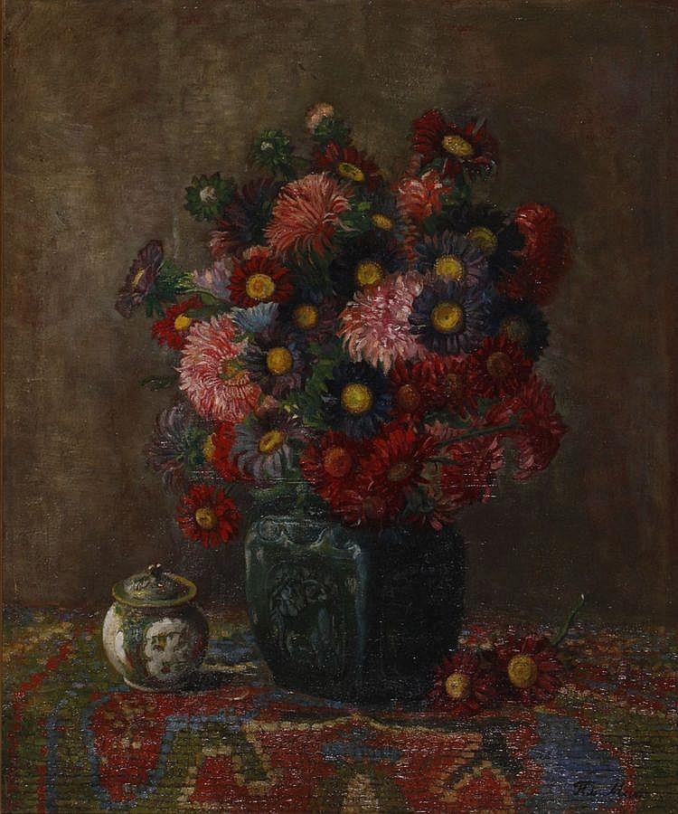 Frits Maris (1873-1935) Bloemstilleven. Gesigneerd