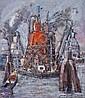 Wim Motz (1900-1977) Havengezicht met rode, Wilhelm Johann Motz, Click for value