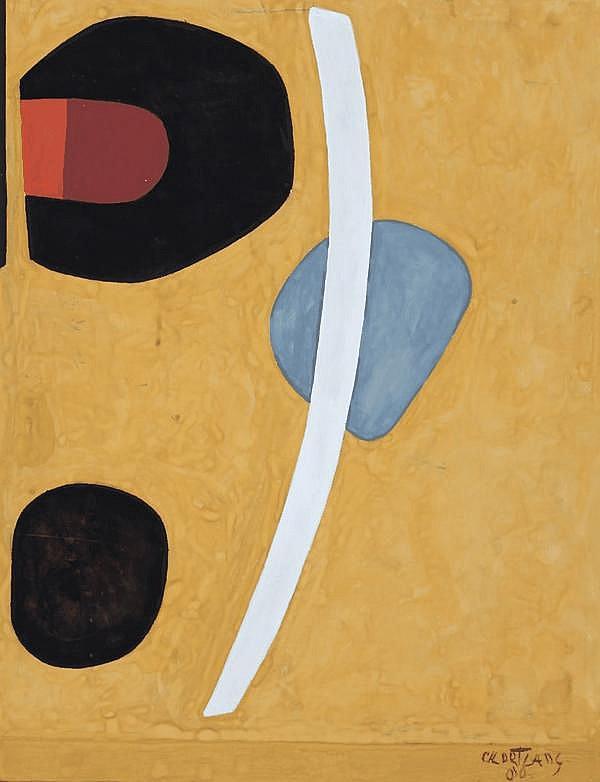 Cees Kortlang (1926-2008) Compositie. Gesigneerd