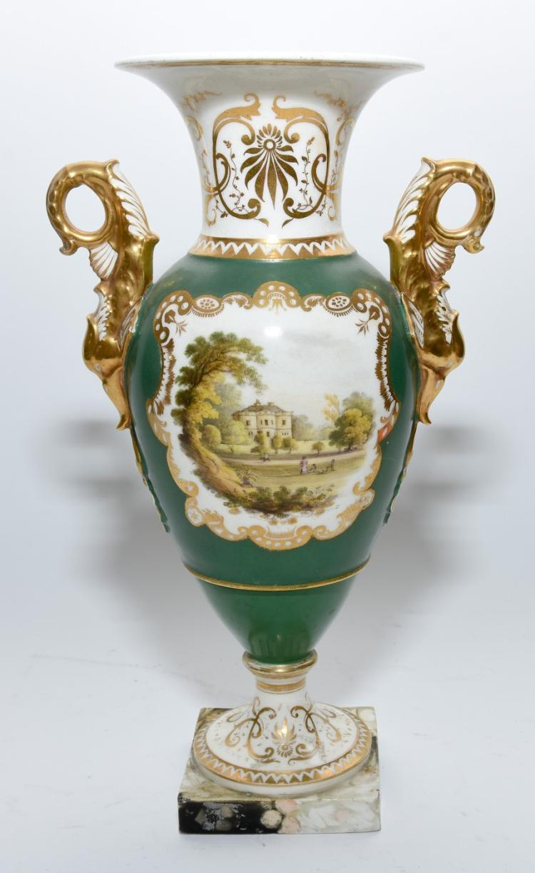 An Empire style ceramic vase