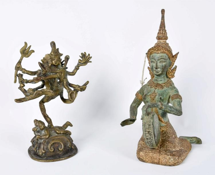 A lot of two buddhistic figures