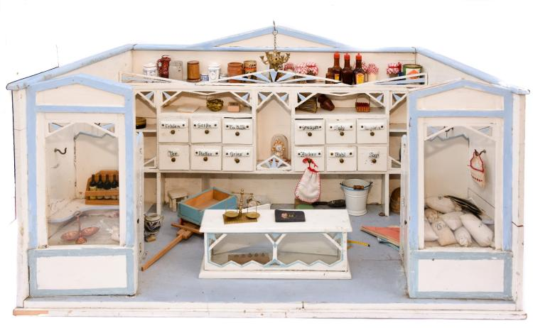 An antique dollhouse shop