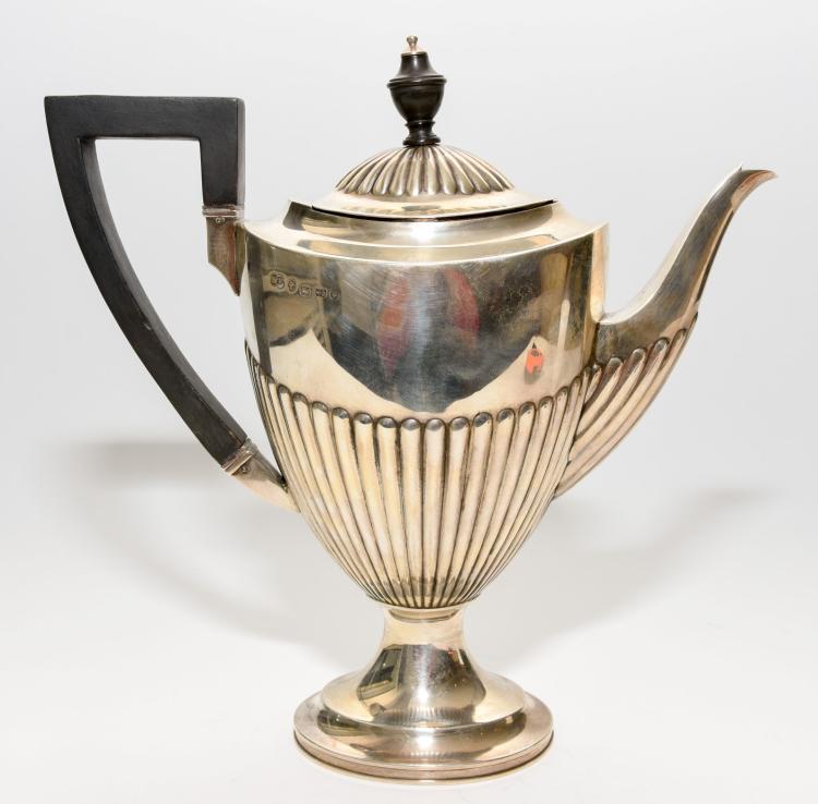 A Birmingham silver teapot