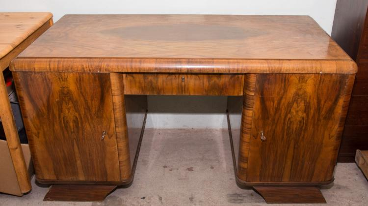 An Art Deco desk