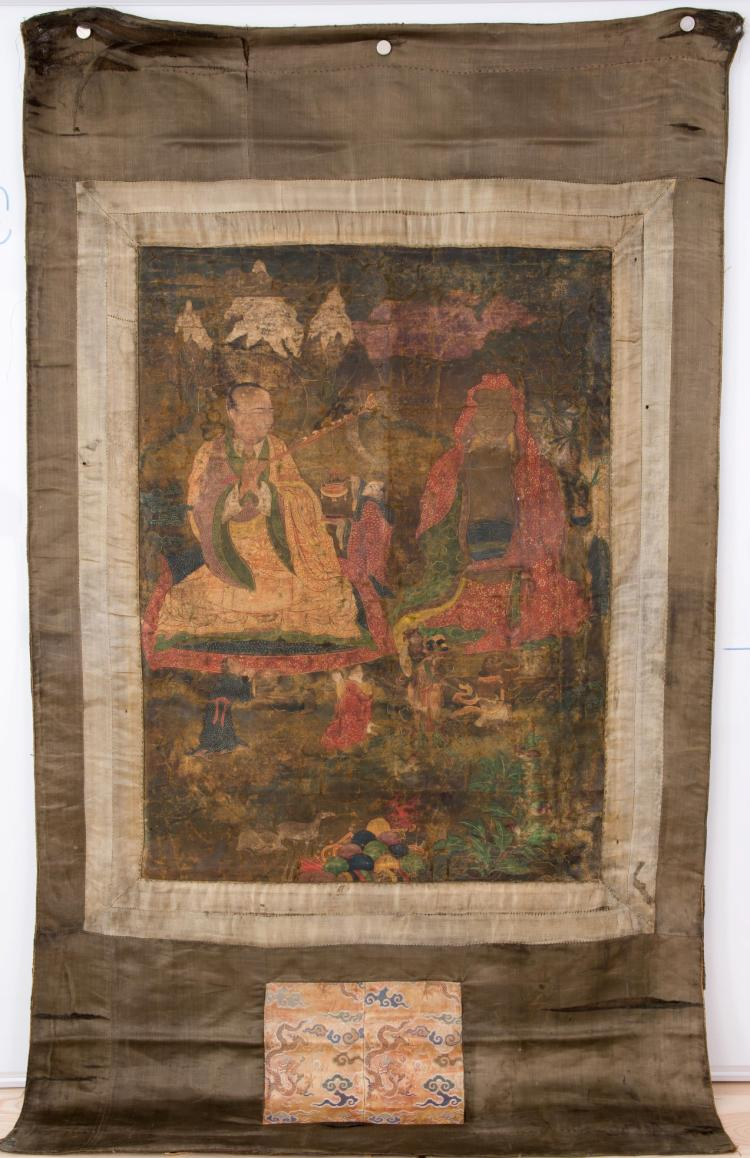 An antique Tibetan Serthang Thangka