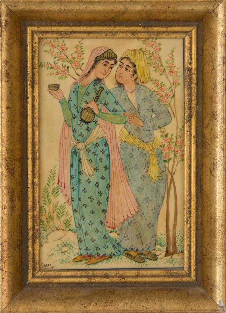 An Indian miniature painting