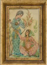 An Indian miniature painting