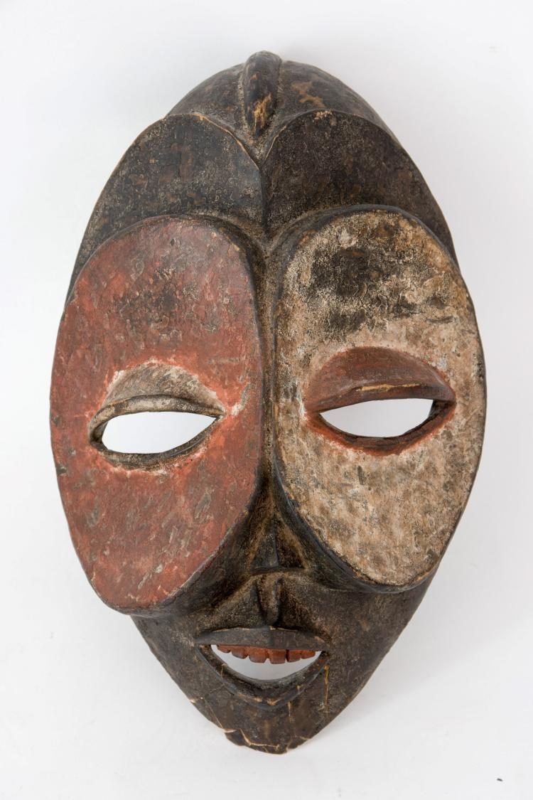 A wooden African mask