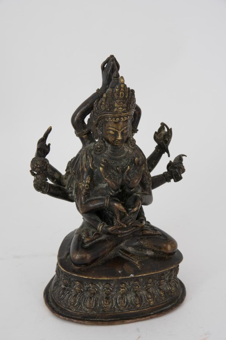 A bronze Avalokitesvara Bodhisattva figure