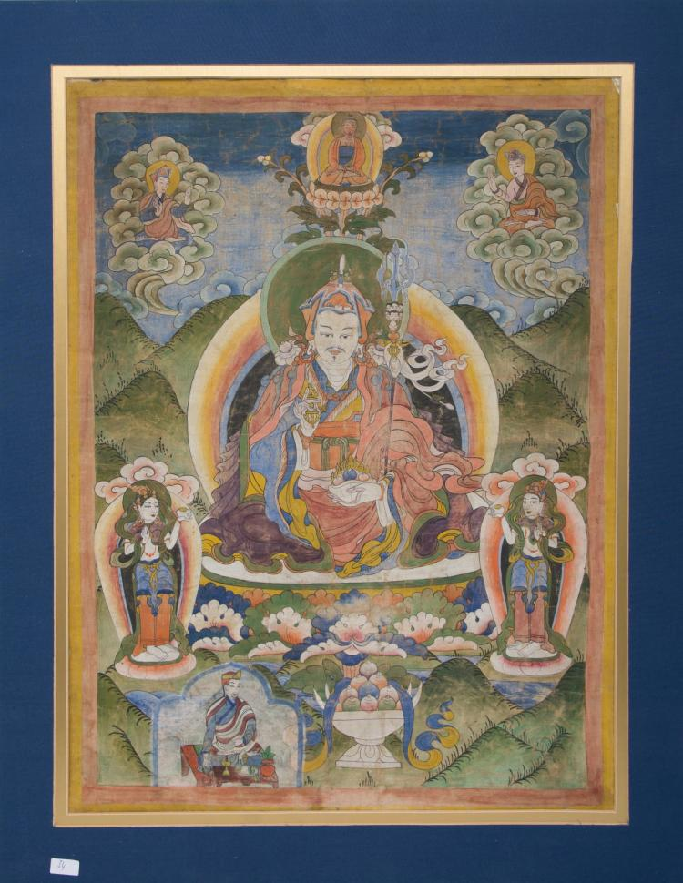 An antique Thangka