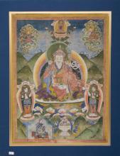 An antique Thangka