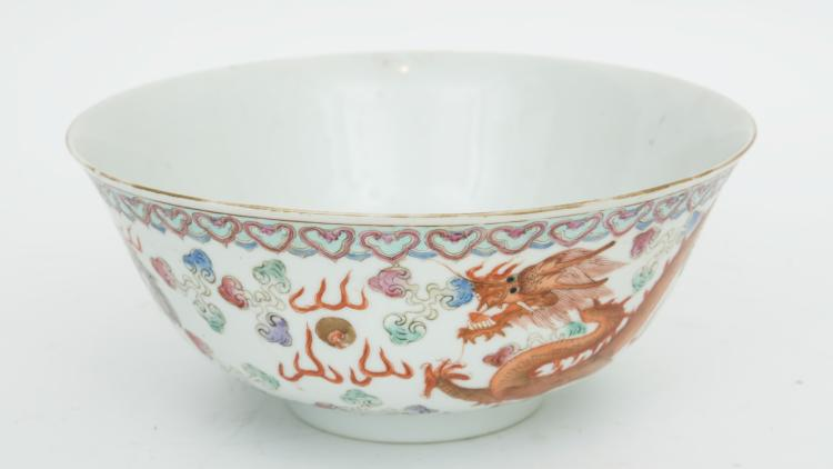 A Chinese porcelain cup