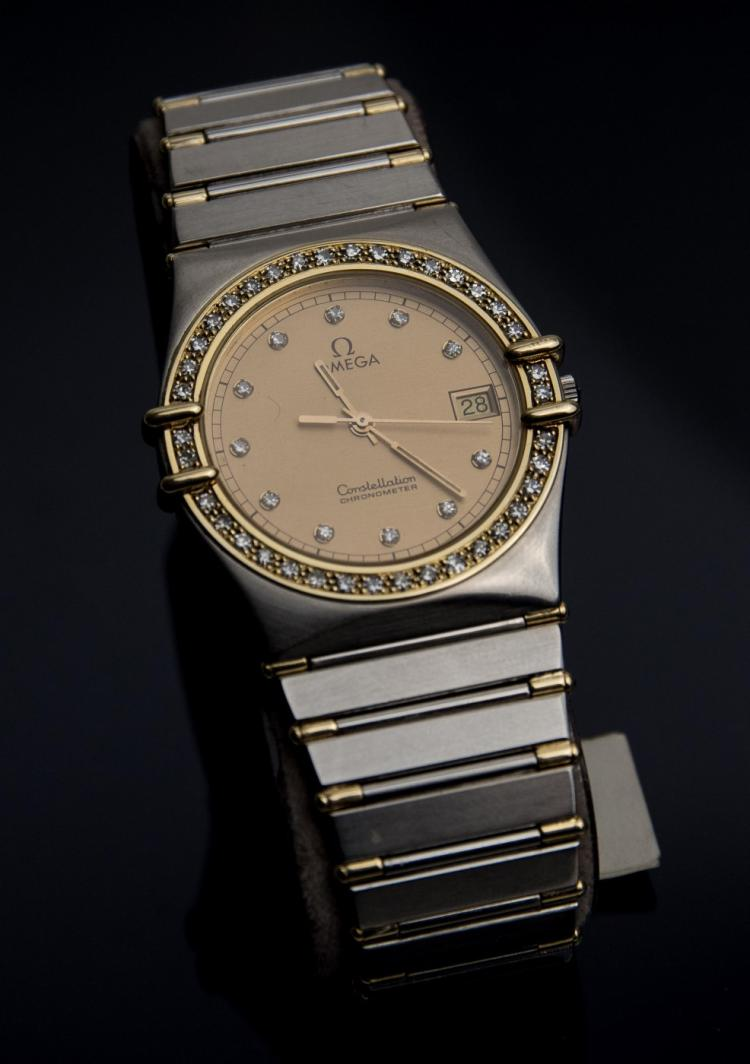 An Omega Constellation lady`s steel wristwatch
