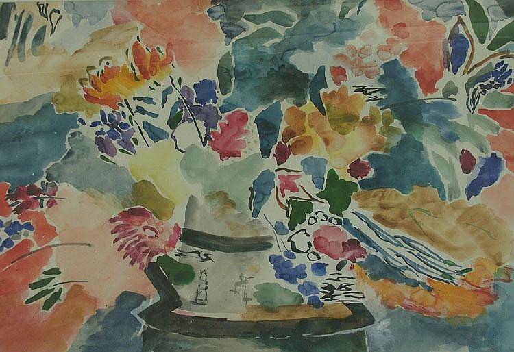 MARIE HOBBS 'Floral Arrangement' Watercolour