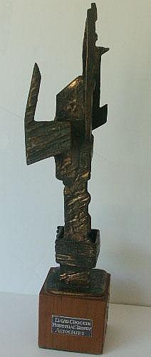 ALAN INGHAM. Bronze Signed & dated '71 42cms H