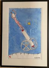 CHARLES BLACKMAN SIGNED WATERCOLOUR