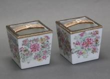 pair of Chinese porcelain baskets, Qing dynasty