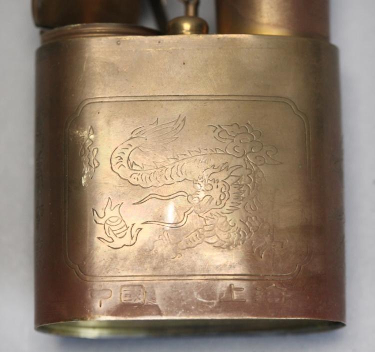 Chinese brass/bronze smoking pipe