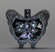 Chinese lacquer snuff bottle, Qing dynasty