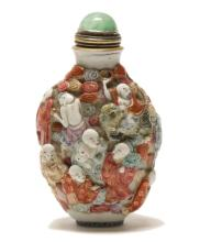 Chinese porcelain snuff bottle, Qing dynasty