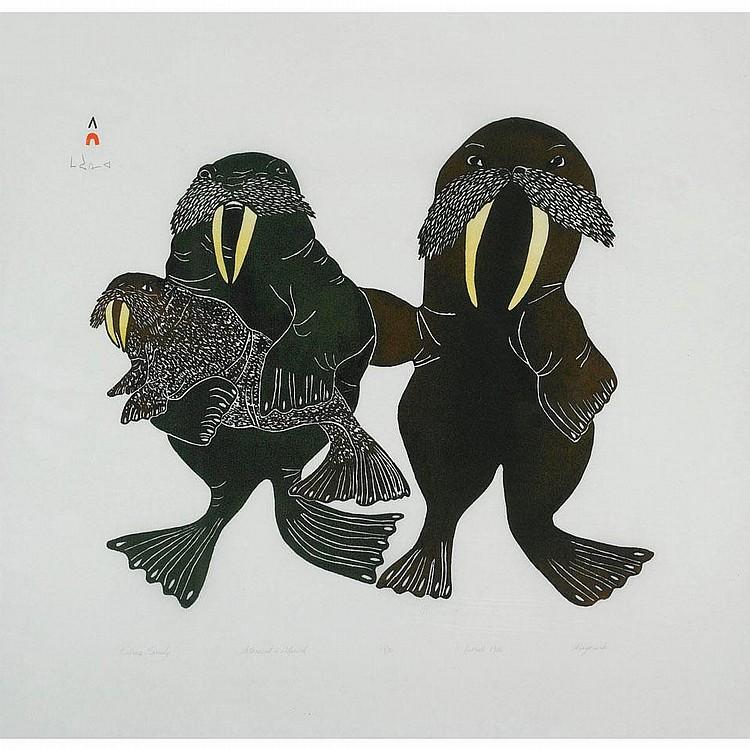 MAYUREAK ASHOONA (1946-), E7-818, Cape Dorset