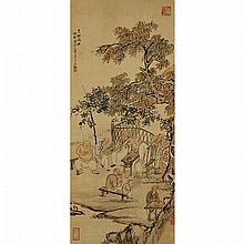 Wang Su (1794-1877), MOUNTAIN MEN AT LEISURE, 19TH CENTURY, 31.1