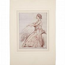 "Sir William Russell Flint (1880-1969), ""DRAWINGS BY SIR WILLIAM RUSSELL FLINT P.R.W.S., R.A."", WITH AN ORIGINAL DRAWING OF A SEATED BALLET DANCER, INSCRIBED ""ONE OF THE ENSEMBLE"" LOOSELY INSERTED (AND ILLUSTRATED WITH 134 ILLUSTRATIONS BY"