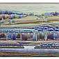 ANN MCCALL, RCATREELINES X, acrylic on canvas; signed; titled, dated Jan 1987, dimensions on reverse 45 ins x 48 ins; 114.3 cms x 121.9 cms Note: Ann McCall has gained international recognition for her painting and collagraph prints of landscapes.