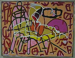 ERIC GAMBLE (1950-) CANADIAN SERAPA; OIL ON