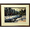 JAMES (JIM) A. BIRNIE (CANADIAN, 20TH CENTURY), CREDIT RIVER IN WINTER, OIL ON MASONITE; SIGNED LOWER RIVER; TITLED TO ARTIST LABEL VERSO - Inventory  #63196, 14