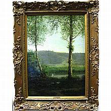 AARON ALLAN EDSON (CANADIAN, 1846-1888) SPRING;
