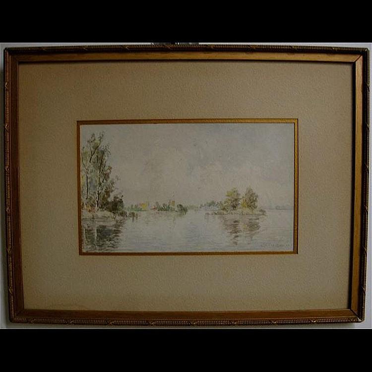 ROBERT HENRY LINDSAY (1868-1938) CANADIAN LAKE
