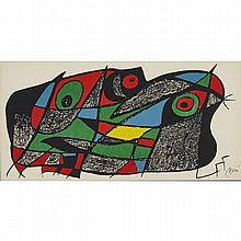 Joan Miro (1893-1983), SUECIA (SWEDEN) (FROM JOAN MIRO ESCULTOR, PLATE #5), 1974 [MAEGHT, 938], Colour lithograph; signed in the plate lower right. Art Conseil editeur, Paris. Printed by Ediciones Poligrafa, Sheet 7.9