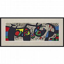 Joan Miro (1893-1983), PLATE III (FROM LE LÉZARD AUX PLUMES D'OR), 1971 [CRAMER,148], Colour lithograph on wove paper; signed and numbered 92/100 in pencil. Printed by Mourlot, Paris, published by Louis Broder, Paris, 13.75